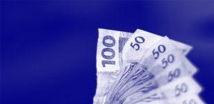 Notas de 100 e de 50 reais